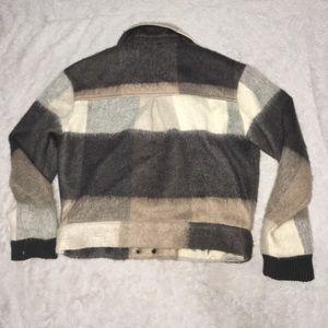 Lovers + Friends Jackets & Coats - Small Lovers+Friends Wool Jacket Asymmetrical Zipr